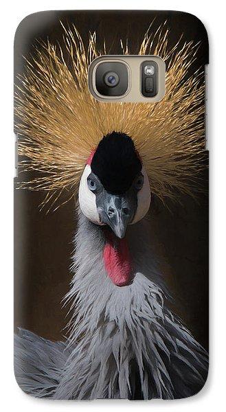 Galaxy Case featuring the digital art Portrait Of A Crowned Crane 2 by Ernie Echols
