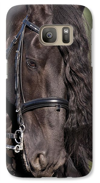 Galaxy Case featuring the photograph Portrait Of A Friesian D6438 by Wes and Dotty Weber