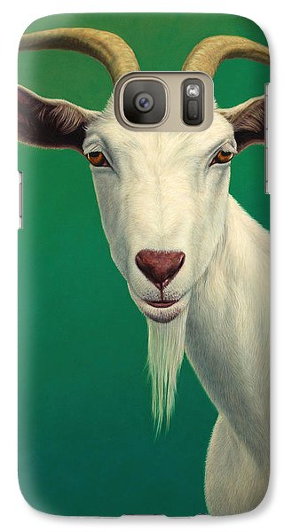 Wildlife Galaxy S7 Case - Portrait Of A Goat by James W Johnson