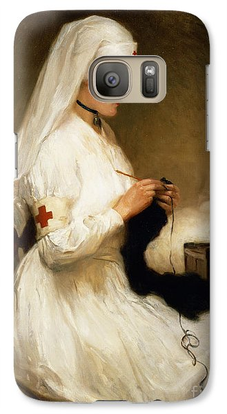 Great White Shark Galaxy S7 Case - Portrait Of A Nurse From The Red Cross by Gabriel Emile Niscolet
