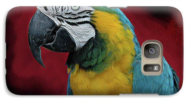 Galaxy Case featuring the photograph Portrait Of A Parrot by Jeff Burgess