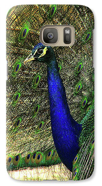 Galaxy Case featuring the photograph Portrait Of A Peacock by Jessica Brawley