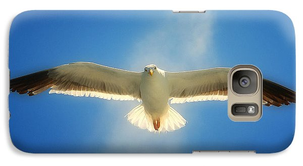Galaxy Case featuring the photograph Portrait Of A Seagull by John A Rodriguez