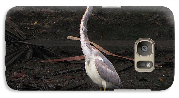Galaxy Case featuring the photograph Portrait Of A Tri-colored Heron by Barbara Bowen