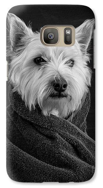 Portrait Of A Westie Dog Galaxy S7 Case by Edward Fielding