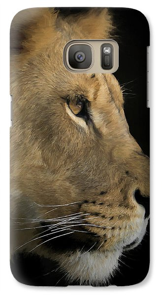 Galaxy Case featuring the digital art Portrait Of A Young Lion by Ernie Echols