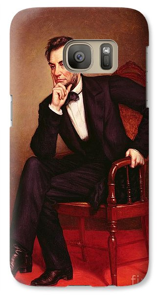 Portrait Of Abraham Lincoln Galaxy S7 Case by George Peter Alexander Healy