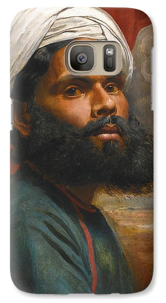 Galaxy Case featuring the painting Portrait Of An Indian Sardar by Edwin Frederick Holt