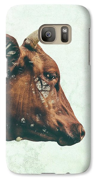 Cow Galaxy S7 Case - Portrait Of Bess by Katherine Smit