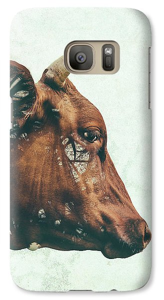 Cow Galaxy S7 Case - Portrait Of Bess by Katherine Smit