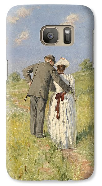 Portrait Of Captain William Holmes And Mary Shafter Mckitterick Galaxy Case by American School