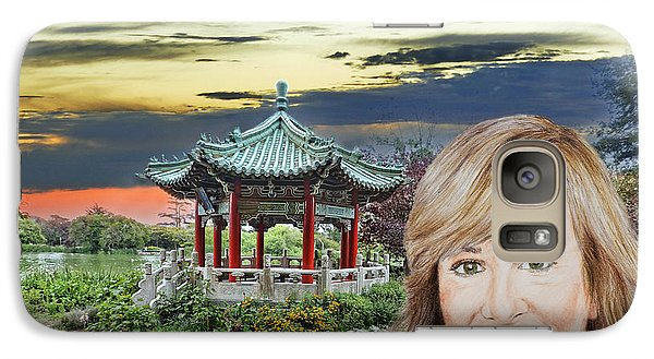 Portrait Of Jamie Colby By The Pagoda In Golden Gate Park Galaxy S7 Case