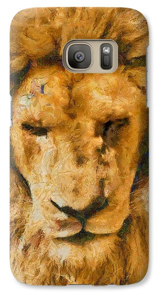 Galaxy Case featuring the photograph Portrait Of Lion by Scott Carruthers