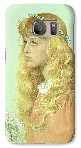 Portrait Of Miss Adele Donaldson, 1897 Galaxy S7 Case by Anthony Frederick Augustus Sandys