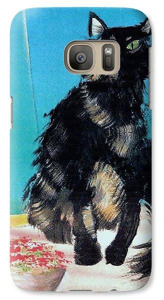 Galaxy Case featuring the painting Portrait Of Muffin by Denise Fulmer