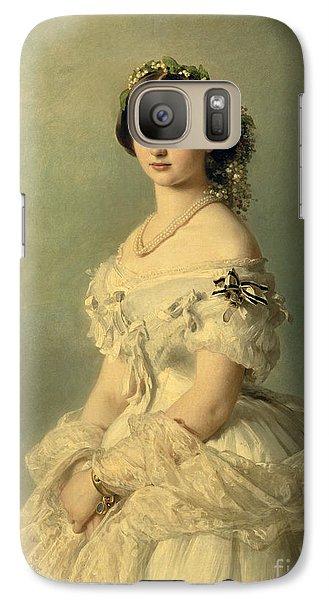 Portrait Of Princess Of Baden Galaxy Case by Franz Xaver Winterhalter