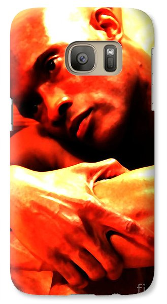 Galaxy Case featuring the photograph Portrait Of Will by Robert D McBain