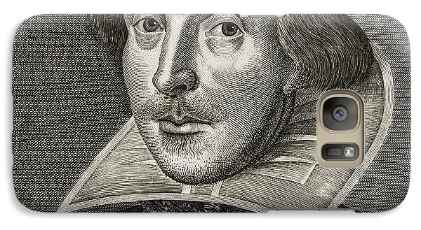 Portrait Of William Shakespeare Galaxy Case by Martin the elder Droeshout