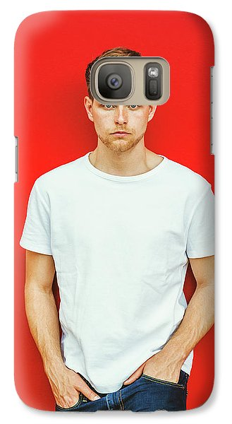 Portrait Of Young Handsome Man Galaxy S7 Case
