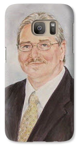 Galaxy Case featuring the painting Portrait Of Zeke Alford by Gloria Turner