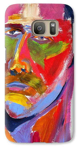 Galaxy Case featuring the painting Portrait Prez by Shungaboy X