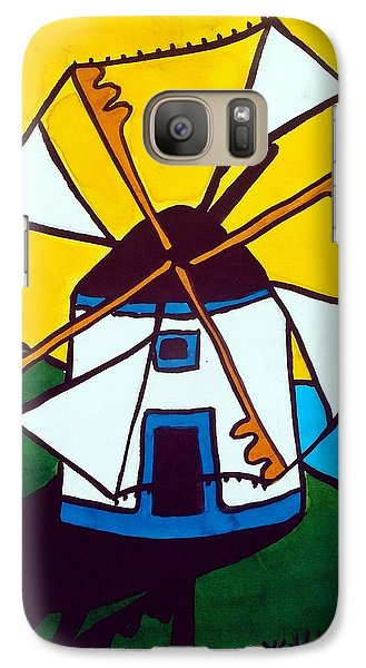 Portuguese Singing Windmill By Dora Hathazi Mendes Galaxy S7 Case by Dora Hathazi Mendes