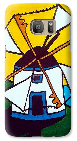 Galaxy Case featuring the painting Portuguese Singing Windmill By Dora Hathazi Mendes by Dora Hathazi Mendes