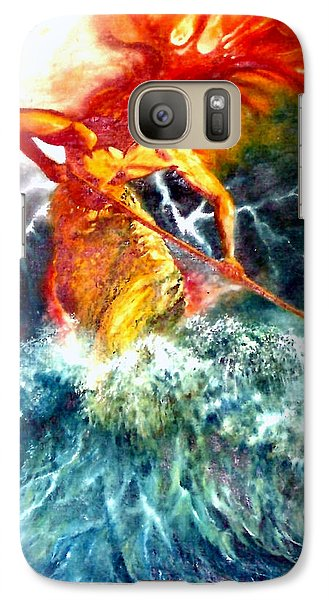 Galaxy Case featuring the painting Poseidon by Henryk Gorecki