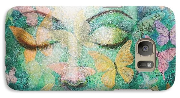 Galaxy Case featuring the painting Possibilities Meditation by Sue Halstenberg