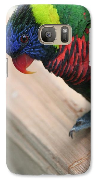 Galaxy Case featuring the photograph Post Position by Laddie Halupa