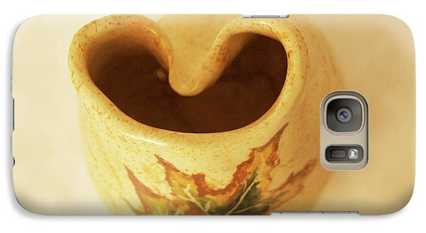 Galaxy Case featuring the photograph Pot On  A Leaf by Itzhak Richter