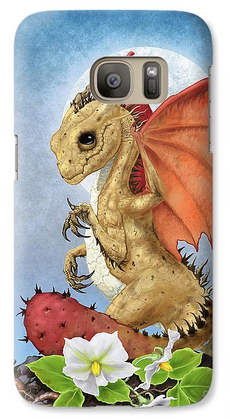 Galaxy Case featuring the digital art Potato Dragon by Stanley Morrison
