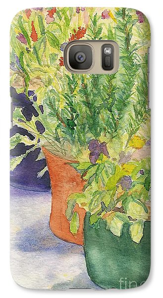 Galaxy Case featuring the painting Potted Beauties  by Vicki  Housel