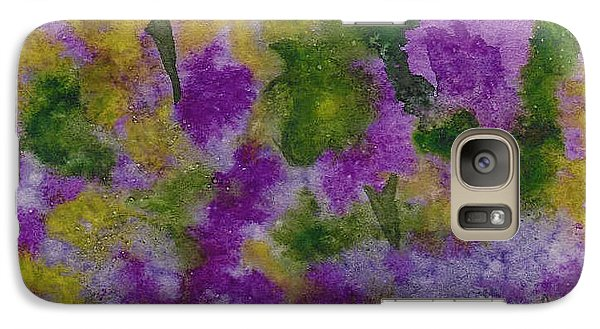Galaxy Case featuring the painting Pouring Flowers by Vicki  Housel
