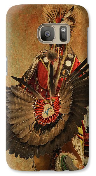Galaxy Case featuring the mixed media Pow Wow 2 by Jim  Hatch