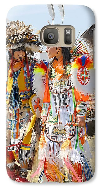 Galaxy Case featuring the photograph Pow Wow Contestants - Grand Prairie Tx by Dyle   Warren