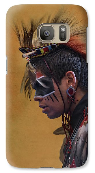 Galaxy Case featuring the mixed media Pow Wow by Jim  Hatch