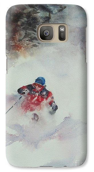 Galaxy Case featuring the painting Powder by Elizabeth Carr