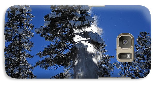 Galaxy Case featuring the photograph Powderfall by Gary Kaylor