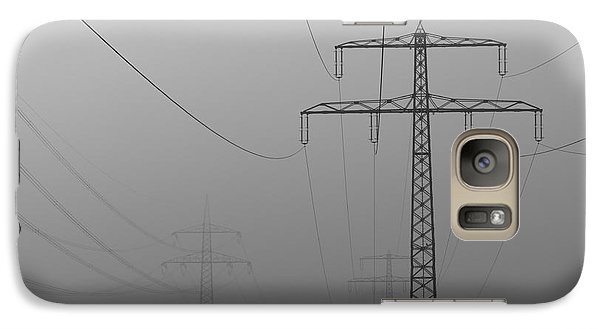 Galaxy Case featuring the photograph Power Line by Franziskus Pfleghart