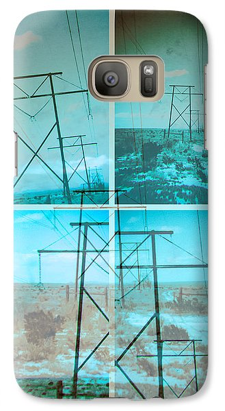 Galaxy Case featuring the digital art Power Line Patriots by Bartz Johnson