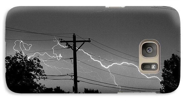 Power Lines Bw Fine Art Photo Print Galaxy S7 Case by James BO  Insogna