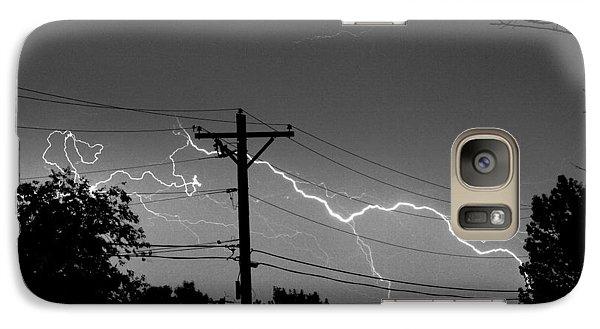 Power Lines Bw Fine Art Photo Print Galaxy S7 Case