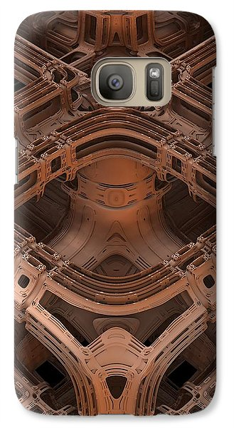 Galaxy Case featuring the digital art Power Station Epsilon by Lyle Hatch