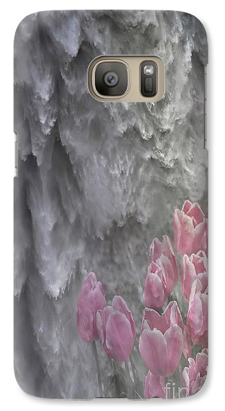 Galaxy Case featuring the photograph Powerful And Gentle Waterfall Art  by Valerie Garner