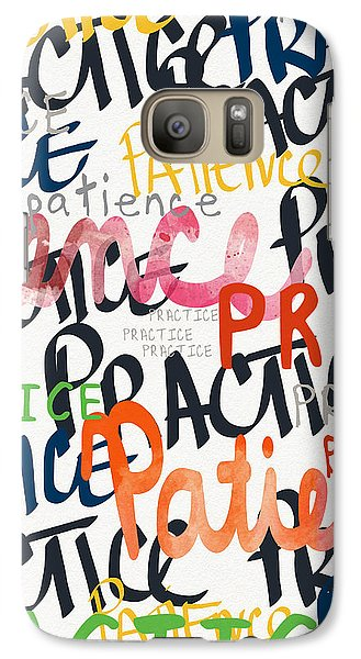 Practice Patience- Art By Linda Woods Galaxy Case by Linda Woods