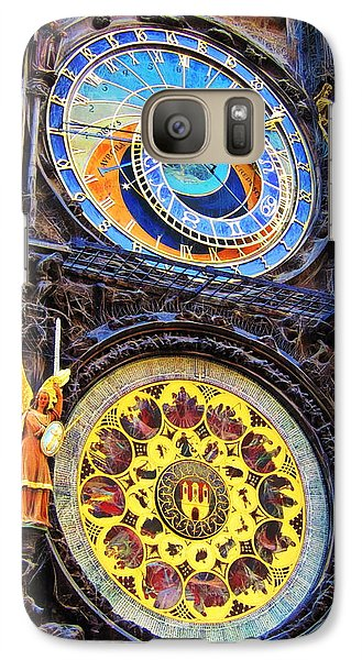 Galaxy Case featuring the photograph Prague Astronomical Clock by Andreas Thust
