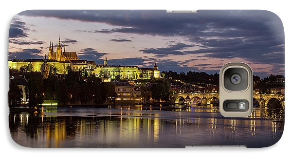 Galaxy Case featuring the photograph Prague Castle, Night View by Yelena Rozov