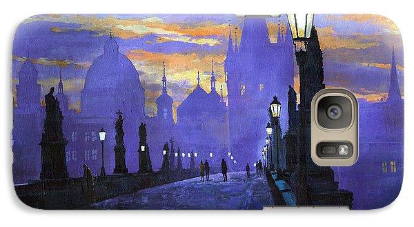 Architecture Galaxy S7 Case - Prague Charles Bridge Sunrise by Yuriy Shevchuk
