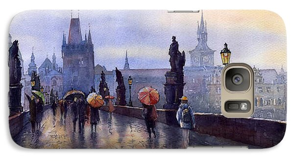 Prague Charles Bridge Galaxy Case by Yuriy  Shevchuk